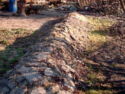 ist kein material vorhanden kann auch mit blumenerde aufgefllt werden das material wieder festtreten und herunterfallende erde auf den hgel harken - Garten Hugel Anlegen