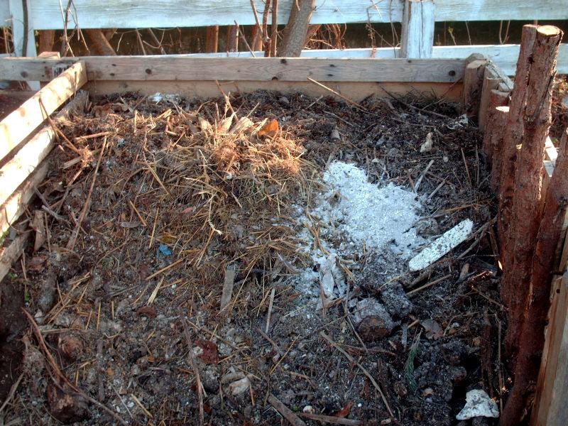 Komposthaufen offen