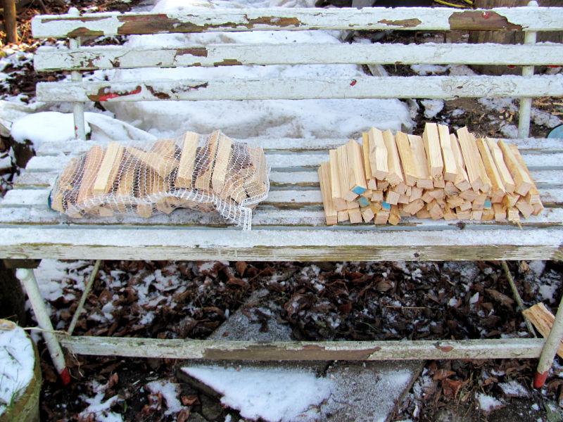 Anmachholz im Vergleich