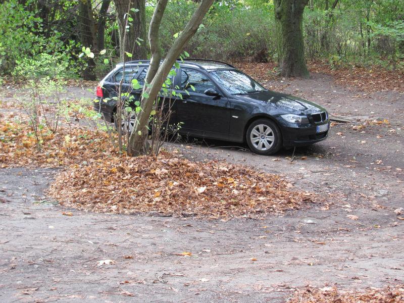 Parken an Grundstücken