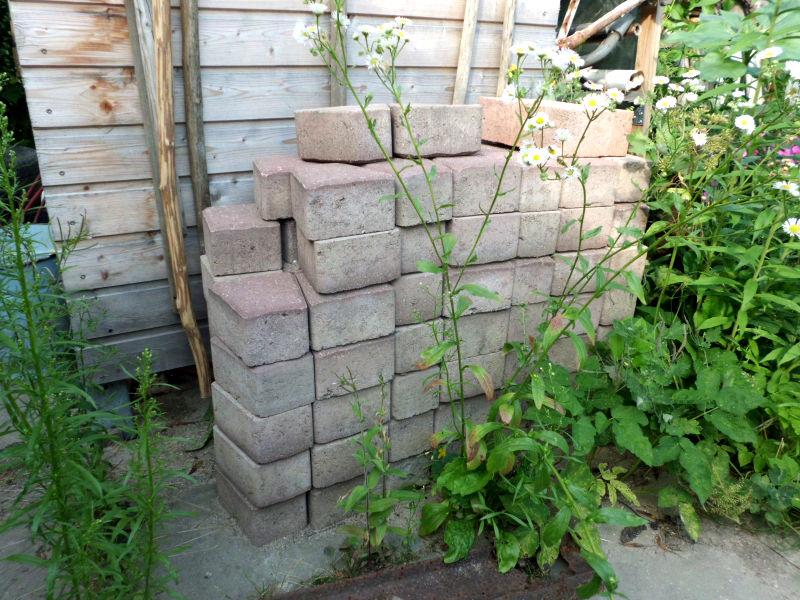 Steine lagern Garten