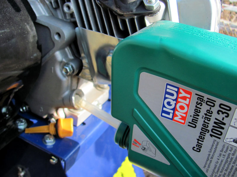 Motoröl-Benzin-Häcksler